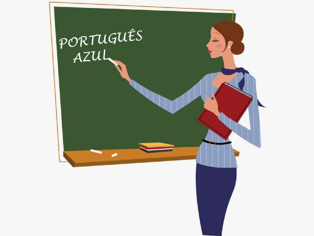 português azul - professora